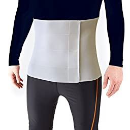 Most Comfortable Abdominal Binder, Additional Plush Foam Panel Added for Pleasant Wear, Post Pregnancy, Post-Operative and Abdominal Injuries Support, Medium (46\