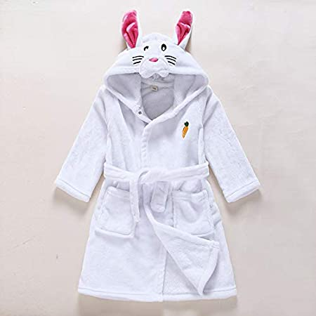 eBoutik Girls Boys Unisex Bathrobes Dressing Gowns Animals Dinosaurs Cat Dog Rabbit Unicorn Elephant Deer Mouse Ages 6-8 8-10 Years (Age 6-8, Deer) Ecommerce Trade Ltd