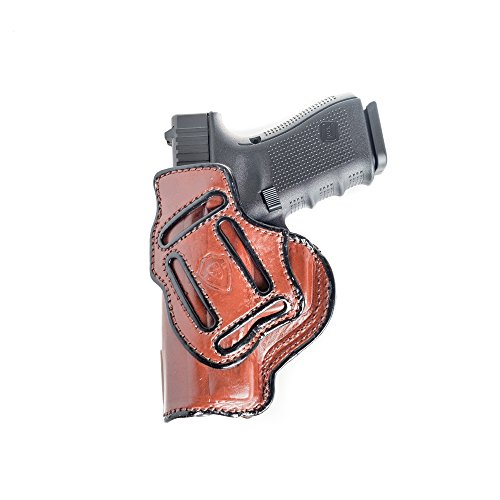 4 in 1 Leather Holster Fits Glock 19/23 / 32. IWB Inside Waistband Conceal or Outside Waistband OWB Holster.