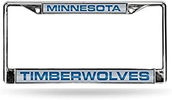 Rico Industries NBA Fan Shop Laser Cut Inlaid Standard Chrome License Plate Frame