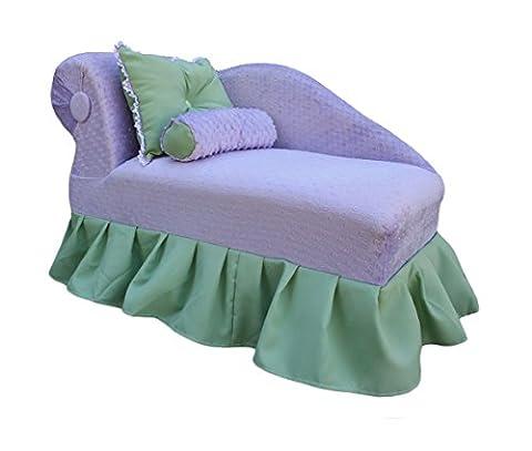 KEET Princess Kid's Chaise, Lavender / Green (Chaise Purple)