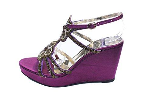 Walk UK pour femme Sandales Violet Wear amp; 5OS7q4E8