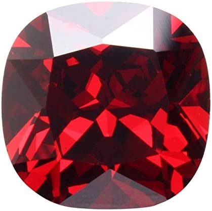 Dalas Unique 12,85 CT 12 mm Cuadrado Sangre Rojo rubí sin Calentar ...
