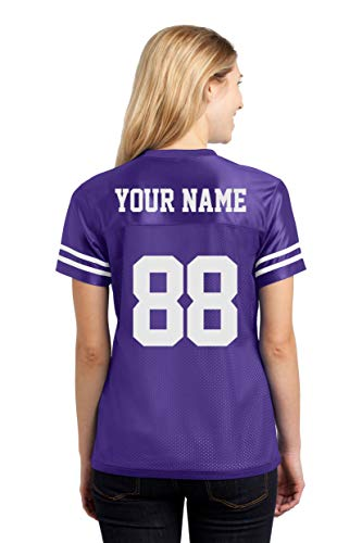 (Custom Sports Jerseys for Ladies - Make Your OWN Jersey T Shirts & Team Uniforms Purple)