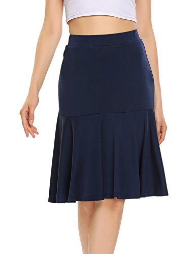 Chigant Women's High Waist Fishtail Mermaid Bodycon Pencil Midi Skirt
