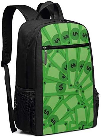 Laptop-Rucksäcke Money Pattern Laptop Backpack 17-inch Laptop Backpack for High School Or College Bookbag