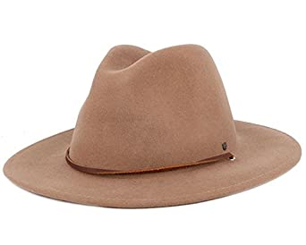 a4c33f50e49 Brixton Field Hat Khaki Fedora  Amazon.co.uk  Clothing