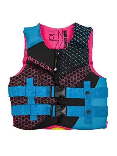 Body Glove 18224Y-AQUPNK Phantom PFD Life Vest - USCGA Approved Aqua-Pink, Youth, Aqua/Pink