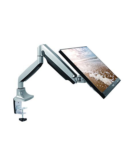 - TechOrbits Monitor Mount Stand - SmartSWIVEL - Computer Screen Desk Mount Arm - Full Motion Swivel Articulating Gas Springs - Universal Fit for 13
