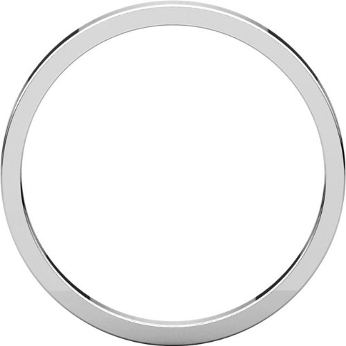 14k White Gold Plain 2mm Stacking Ring