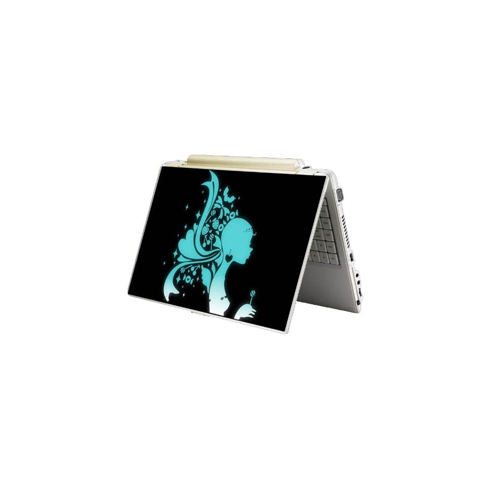 Bundle Monster MINI NETBOOK Laptop Notebook Skin Sticker Cover Art Decal   7 8 9 10   Fit HP Dell Asus Acer Eee Compaq MSI   Green Lady