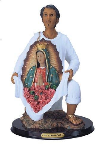 12 Inch Statue Our Lady Of Guadalupe W San St Juan Diego Saint Estatua Virgen