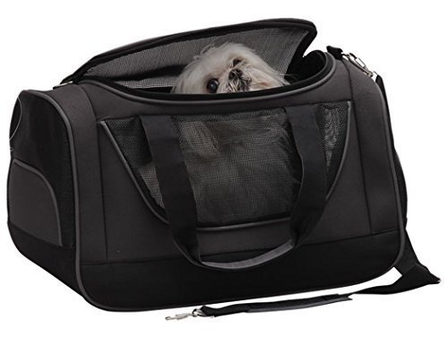 bellino-u-shaped-zipper-opening-pet-carrier-grey
