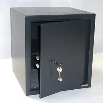 Tresor Safe Möbeltresor Mit Doppelbart Schlüssel Ca 41 L Anthrazit Amazon De Baumarkt