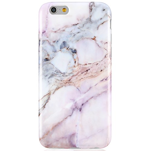 Pink iPhone 6 6S Case, Unique Marble Design,VIVIBIN Anti-Scratch &Fingerprint Shock Proof...
