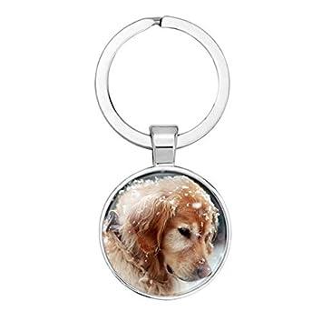 Pug keychain- elegir un Birthstone y inicial, perro llavero ...