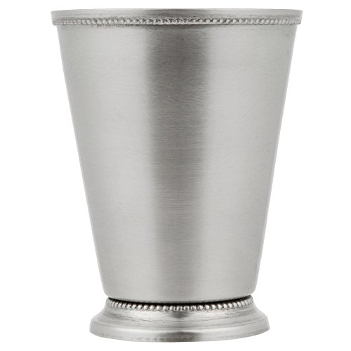TableTop King 16 oz. Stainless Steel Mint Julep Cup with Smooth Finish and Beaded Detailing - 4/Pack by TableTop King
