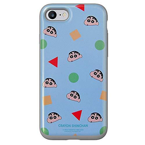 [iPhone7/8] Crayon Shinchan Slide Card Case クレヨンしんちゃん スライド カード ケース コーティング カード収納 ICカード 二重構造 正規品 保護カバー iPhoneケース Galaxy ケース ケース 〈Blue〉