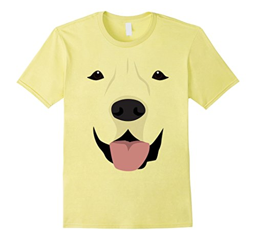 Yellow Labrador Costume (Mens Labrador Face Shirt, Funny Cute Lab Dog Halloween Costume XL Lemon)