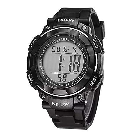 Carriea Niños Digital Relojes para Joven - Deportes Impermeable Reloj de Pulsera con Despertador/Temporizador, Negro Niños Outdoor electrónica Sport Digital ...
