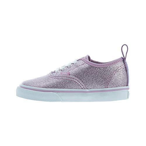 Vans Unisex Babies' Authentic Elastic Lace Trainers, Pink (Glitter + Metallic/Lilac), 8 UK 25 EU ()