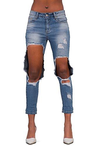 Lustychic - Jeans Donna Boyfriend Ripped