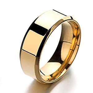 Titanium steel rings 8MM mirror Unisex's simple Ring Casual Fashion Rings_11 US