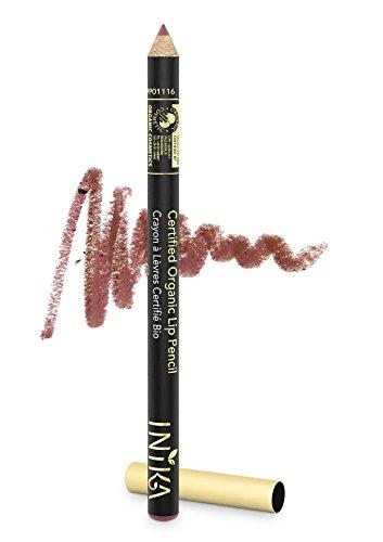 INIKA Certified Organic Lip Liner Pencil, All Natural Formula, Vegan, Rich, Creamy Formula, Suits Sensitive Eyes, 1.2g (Safari) by INIKA