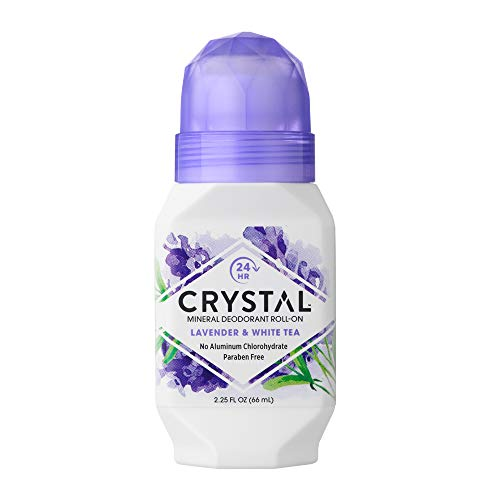 Crystal Mineral Deodorant Roll-On, Lavender & White Tea, 2.25 fl oz