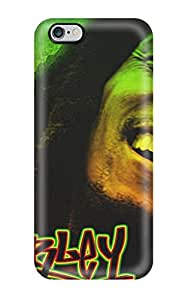 Excellent Cell-phone Hard Cover For Iphone 6plus With Custom Colorful Bob Marley Series CristinaKlengenberg