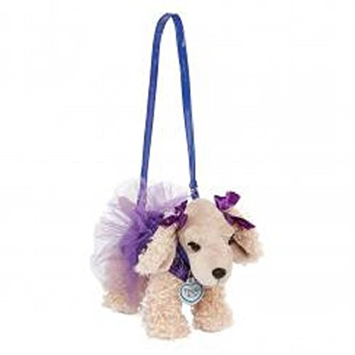 Poochie & Co Girls Plush Puppy Purse, Purple Sequin Ballerina Tutu Sadie Cocker Spaniel -