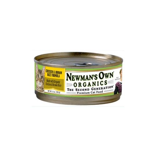 Newman's Own Organics Adult Chicken & Brown Rice Formula Can