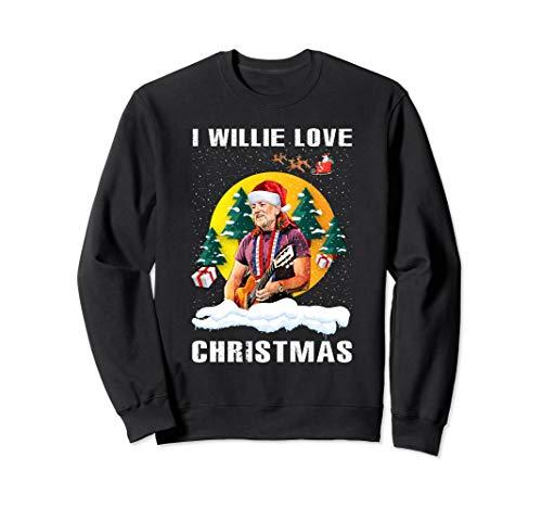 Love Willie shirt Nelson Funny Christmas Retro For Men Women Sweatshirt (Christmas Jumper Retro Ladies)