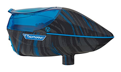 Virtue Spire 200 Electronic Paintball Loader/Hopper - Graphic Cyan