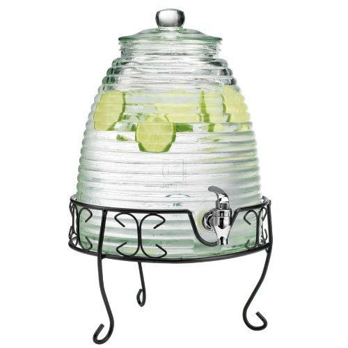 Royal Cook RC-00913S Beehive Beverage Dispenser, 9 L, Clear, Multicolor