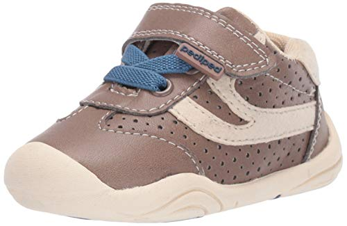 pediped Boys' Cliff First Walker Shoe Taupe 20 Child EU Toddler (5 US)