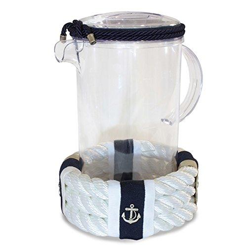 Colore cima nautica Bianco Brocca in plex in stile nautico Creazioni Nautiche