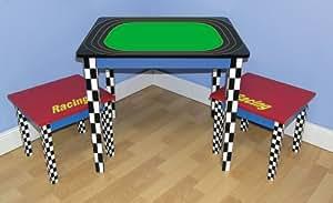 Racing Race Car Child's Table & Chair Set