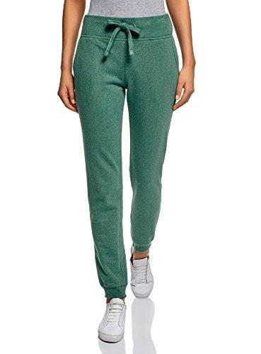 oodji Ultra Women's Jersey Active Pants, Green, 4 ()