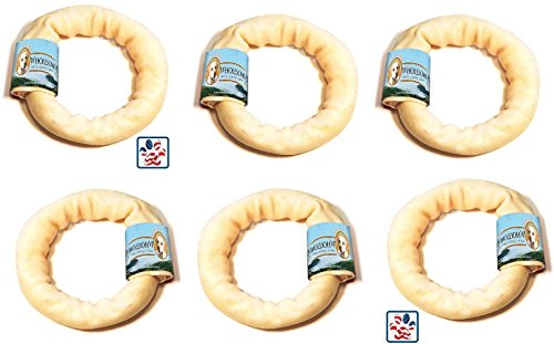 (6 Pack) Wholesome Hide Donut, 4 Inches each