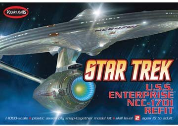 Round 2 Round2 Polar Lights Star Trek USS Enterprise NCC-...
