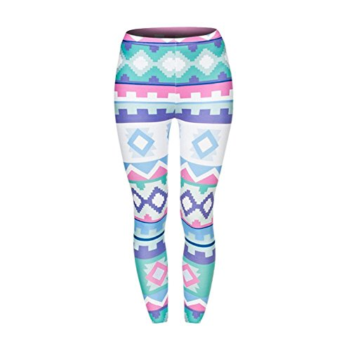 Women Casual Printed Yoga Fitness Leggings Gym Stretch Sports Pants Trousers