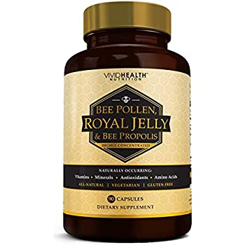 Amazon.com: Royal Jelly with Bee Pollen & Bee Propolis (4