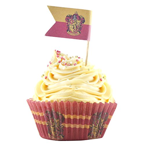Set of 96 Harry Potter Cupcake Baking Cups + 96 Harry Potter Flags - Paper - Cinereplicas