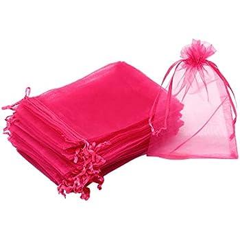 Amazon.com: Hopttreely 100PCS Premium Sheer Organza Bags ...