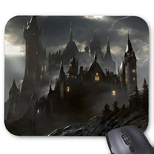 Fortress Clipart Dark Castle Mouse pad 8.66 X 7 in