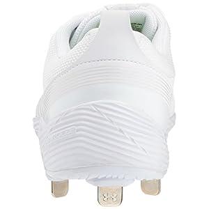 Under Armour Women's Glyde ST Softball Shoe, White (100)/White, 8.5