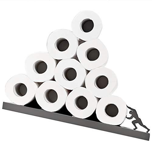 Toilet Paper Holder - Sisyphus Shelf for Toilet Paper Rolls - Bath Decor - Tilted Toilet Paper Rack - Bathroom Accessories - Toilet Paper Storage - Unique Toilet rolls Storage from the Greek Mythology
