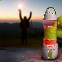 Zehui–Botella de agua Rociador de la niebla con luz LED para Ciclismo, Escalada, gimnasio, viaje Spray Botella de agua inteligente recordatorio