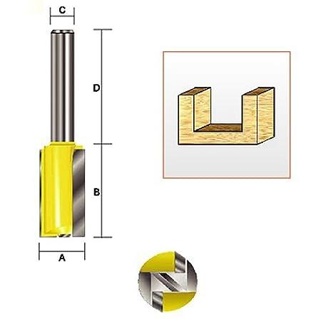 1-Inch Cutting Length Kempston 105033 Straight Bit with Bottom Cutter 1//4-Inch Shank 1//2-Inch Cutting Diameter